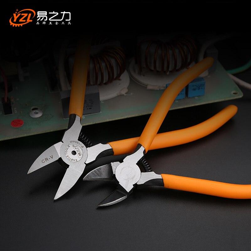 Alicates de plástico CR-V de 5/6 pulgadas de joyería Cable eléctrico cortadores de corte lateral herramientas manuales herramienta electricista