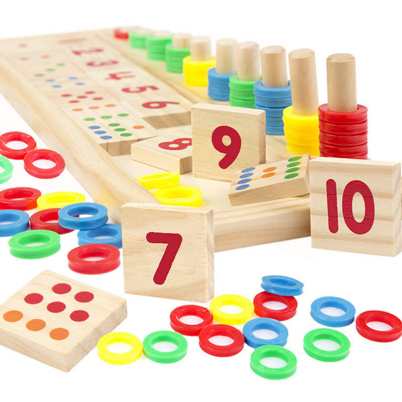 Math Toys For Kids : Set kids baby wooden educational montessori math