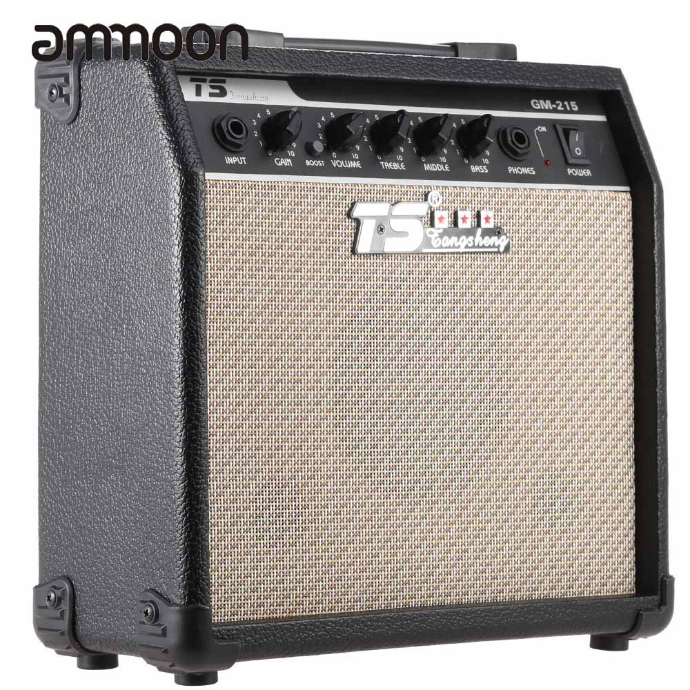 GM-215 Electric Guitar Amplifier 15W Amp Distortion With 5