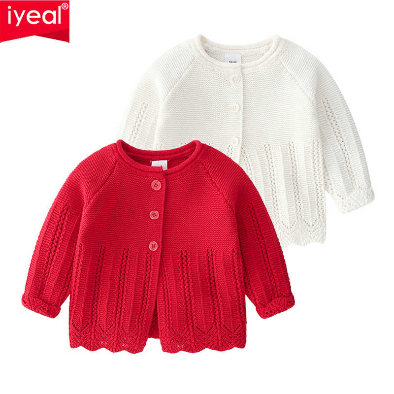 Kids Baby Girls Knitted Warmer Coat Sweater Outfits Infant Button Cardigan Tops