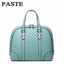 Fashion brand Shell bag Top grade ladies handbags All-match Diamond lattice Genuine Leather shoulder bags