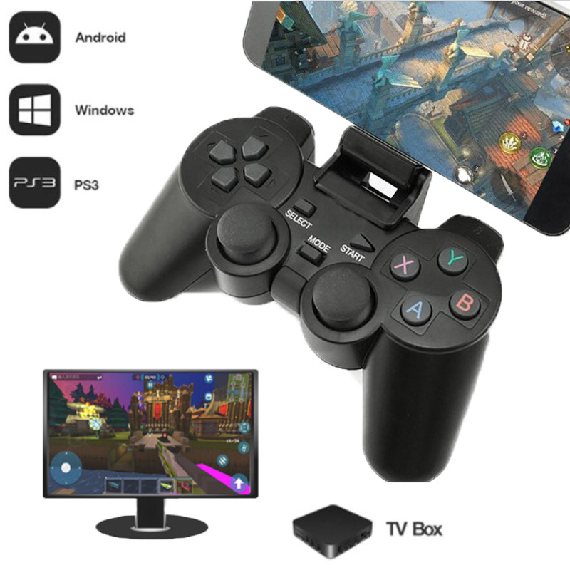 2.4G Wireless Controller For PS3 Android Phone TV Box PC Joystick For Xiaomi OTG Smart Phones Game Controller Remote Joypad 2 4g wireless type c game controller joystick gamepad otg receiver for xiaomi android smart phone for ps3 game console 5 colors