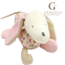 18cm cute pink stuffed dog doll,100% cotton knit Eco material, plush toys for gift,birthday