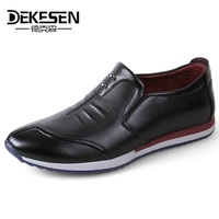 DEKESEN 2018 New Comfortable Leather Shoes Casual Men S Flats Design Man Driving Shoes Soft Bottom