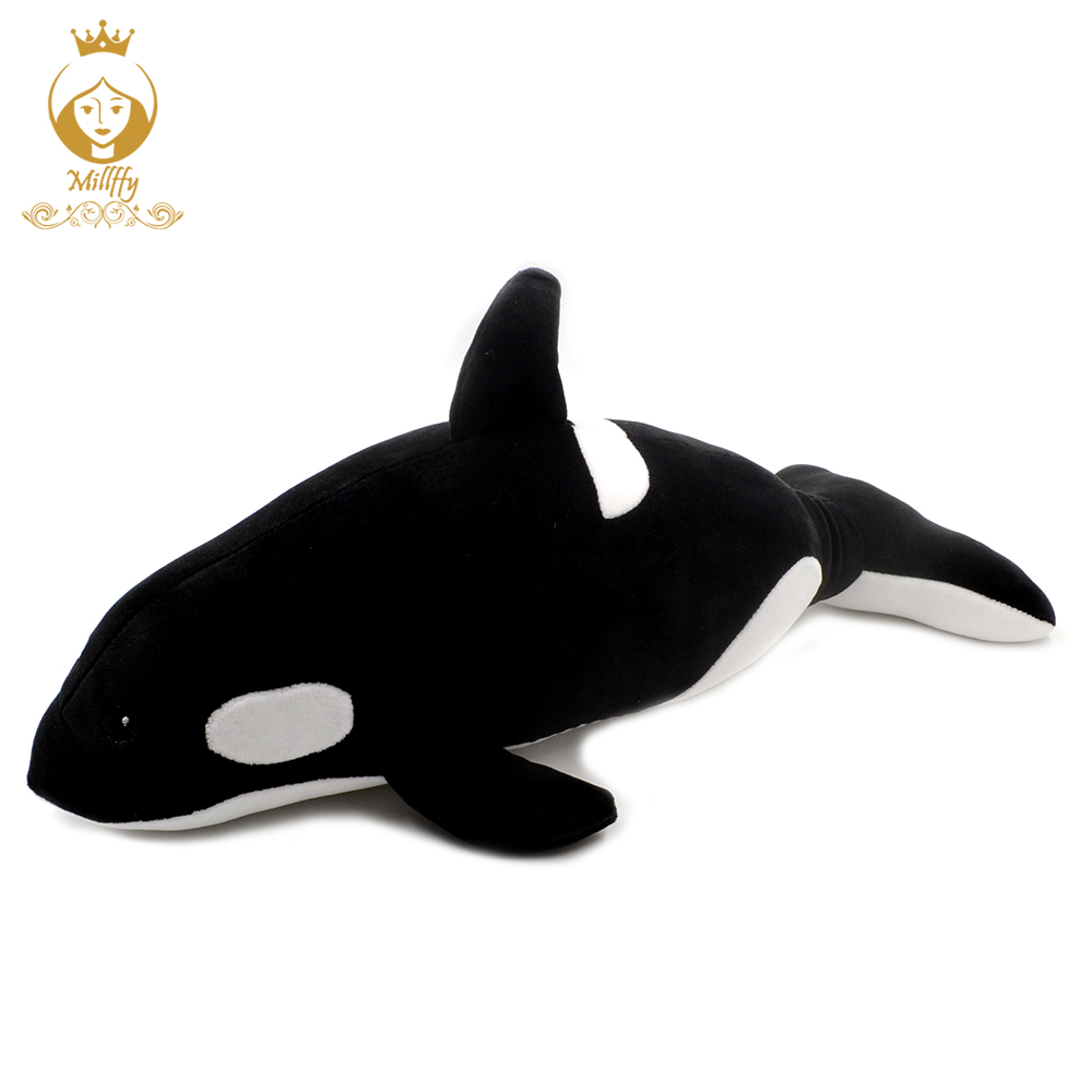 Killer whale doll pillow whale Orcinus orca black and