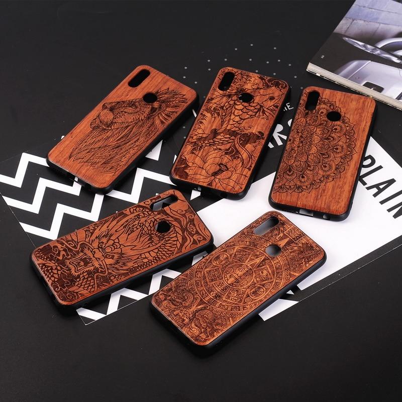YISHANGOU Cases For Huawei P20 Lite NOVA3E Natural Wood Back