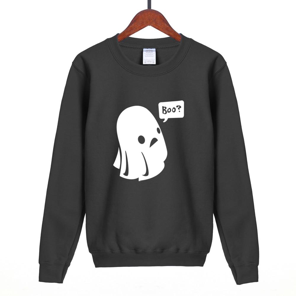 2018 spring winter new style Women Sweatshir Cute Ghost Boo Halloween Casual Hoodies For Lady fleece high quality hoodie S-2XL