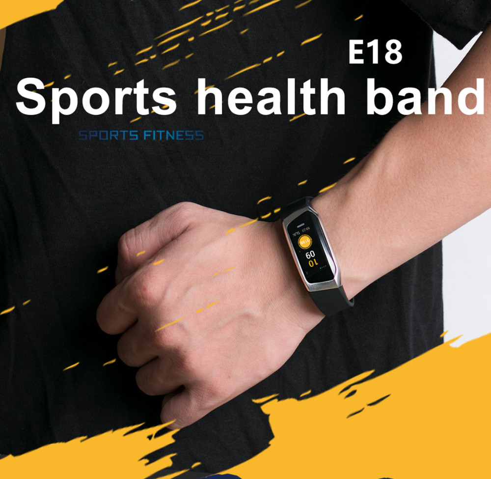 New E18 Smart Fitness Bracelet Watch Heart Rate Monitor Sport Smart Wristband For iOS Android Fitness Tracker Smart Band Relojes cf007 smart band heart rate blood presure monitor smart watch sport tracker monitor smart bracelet wristband for ios android