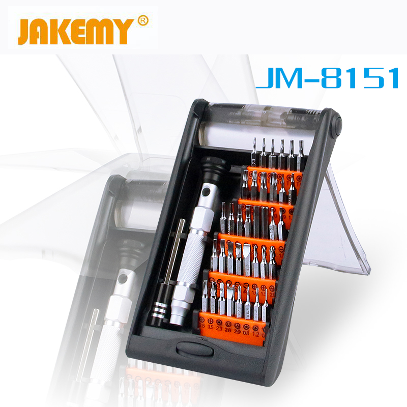 JAKEMY 38 in 1 Precision Torx Magnetic Screwdriver Set Bits For Electronics Hand Tools Kit For Mobile Phone Repair Laptop iPhone 33 in 1 interchangeable precision screwdriver set magnetic screwdriver kit repair tools for laptops mobile devices wristwatches
