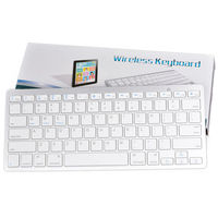 Wireless Keyboard Slim Mini Russian English Bluetooth Standard Keyboard For IPad PC Android Tv Box Desktop