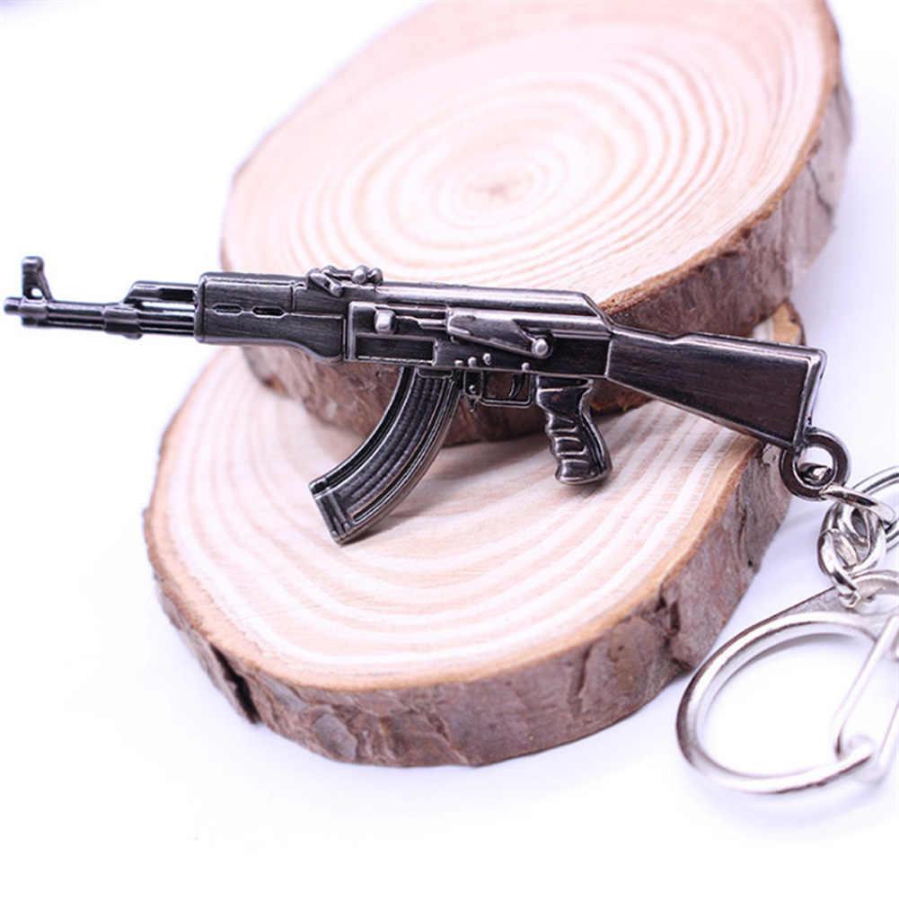 NEUE 2018 Heißer Spiel Anhänger Schlüsselanhänger Beliebte Spiel Gun Schlüssel Ketten Waffe Modell Metall Anhänger Keychain Metall Schlüssel Ring