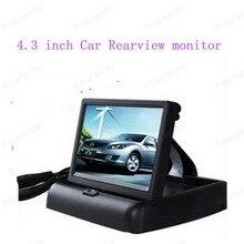 """Venda quente 4.3 """"TFT COLORIDA Dobrável para Camera DVD VCR car Monitor de Segurança 12 v LCD Do Reverso Do Carro Retrovisor monitor de"""