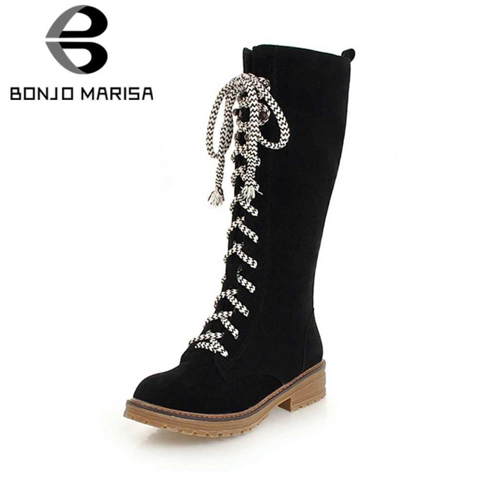 752edcf7620 Detail Feedback Questions about BONJOMARISA Women s Chunky Heel Warm ...