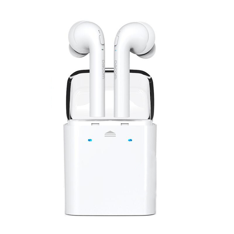 Original Dacom Twins True Wireless Bluetooth Earphone Earbuds Noice Cancelling Headset Handsfree With MIC For iPhone 7 Airpods dacom carkit wireless bluetooth headset earphone with mic car charger for apple iphone 7 plus airpods android xiaomi samsung lg
