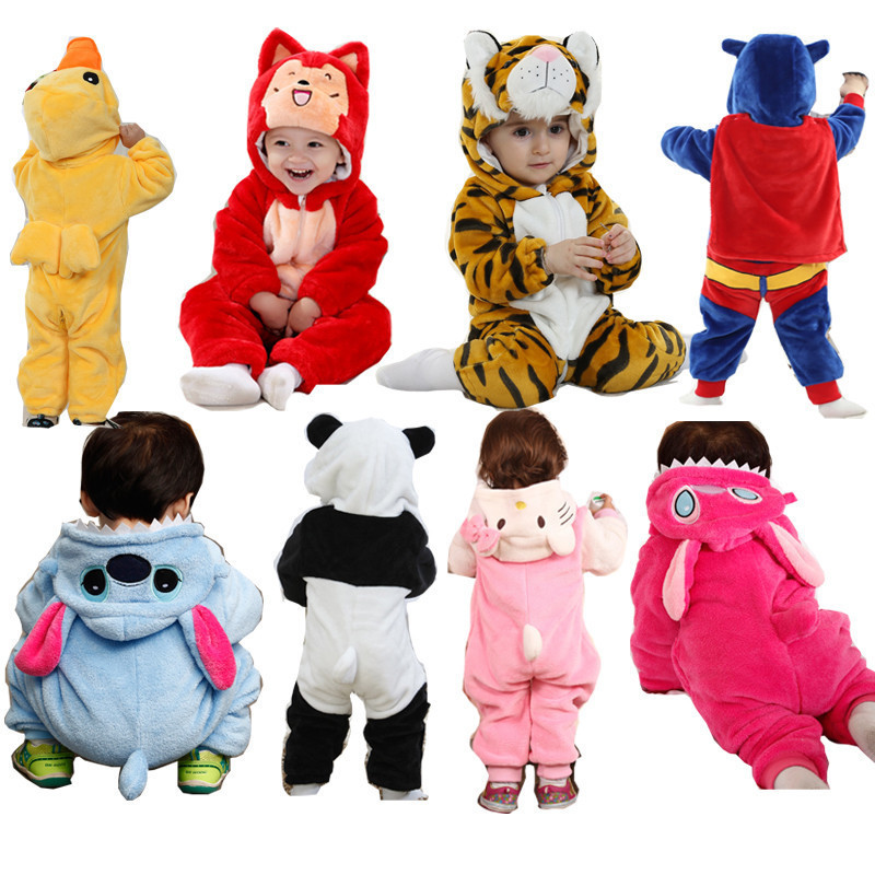 Baby Rompers Newborn Boys Clothes High Quality Winter Hooded Clothing Girls Autumn Jumpsuits Pajamas Baby Overalls HW2040 baby boys rompers infant jumpsuits mickey baby clothes summer short sleeve cotton kids overalls newborn baby girls clothing