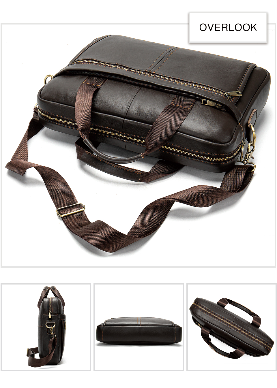 HTB19s8VV7voK1RjSZFwq6AiCFXaM WESTAL Men's Briefcase Men's Bag Genuine Leather Laptop Bag Leather Computer/Office Bags for Men Document Briefcases Totes Bags