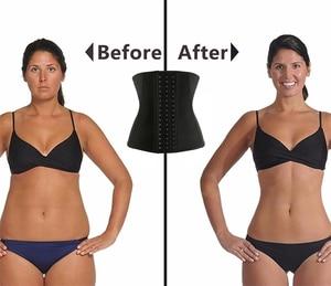 Image 5 - Burvogue femmes sous le buste Latex taille formateur Corset Sport ceinture corps Shaper perte de poids sueur acier os Bustiers & Corsets