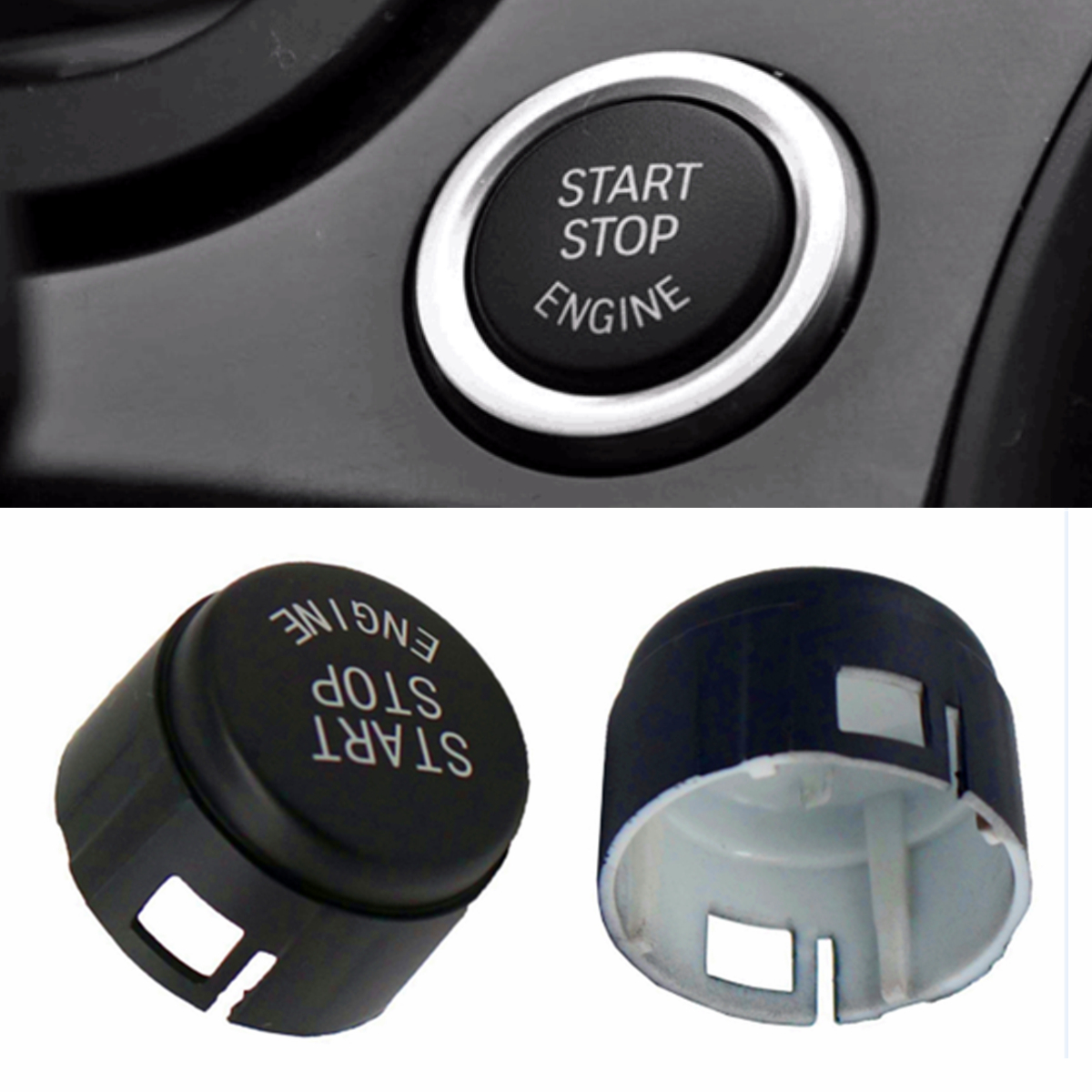 New Car Start Stop Engine Button Switch Replace Cover Key <font><b>Accessories</b></font> for <font><b>BMW</b></font> 5 6 7 F01 F02 F10 <font><b>F11</b></font> F12 2009-2013 61319153832 image