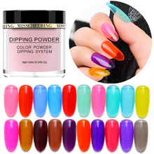 10ml Dipping Powder Nail Glitter Manicure Pigment Translucent Glaze Colored Glass Art For Nails NHD