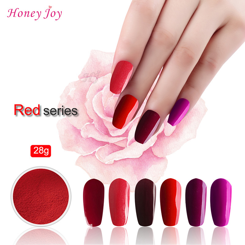 Generous Very Fine Hot Red Colors 28g/box Dipping Powder Without Lamp Cure Nails Dip Powder Gel Nail Salon Effect Natural Dry Nails Art & Tools