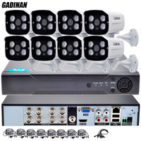 GADINAN AHDH 2MP 1080P Video Surveillance CCTV System 8CH Full HD 1080P HD AHD DVR Kit