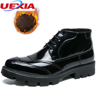 UEXIA Winter Warm Fur Snow Boots Men Sneakers Anti Skidding Ankle Boots Shoes Footwear Anti Skidding