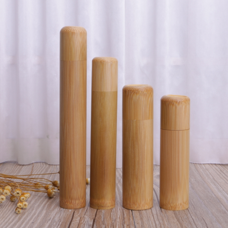 New Bamboo Tube Tea Box Airtight Small Container Spices Storage Jar With Lid 4 Size Bamboo Tea Box