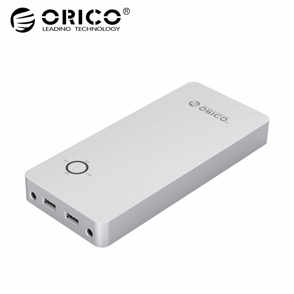 ORICO 18000 mah Power Bank für Laptop Aluminium Legierung Dual Ausgang Eine DC Port 12/15/19 v gebühr für Notebook