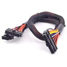 PSU Модульная 18 + 10 Pin к 24 Pin ATX 20 + 4 Pin Материнская плата ПК плоский кабель питания для Corsair AX860 AX850 AX760 AX750