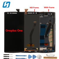 Oneplus One LCD Display New Original Display Touch Screen Digitizer Glass Panel With Frame Replacement For
