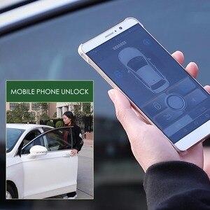 Image 4 - Keyless Entry Central Locking Push Button Ignition Door Lock Universal Car Alarm SmartPhonePKE  Control Car Alarm System 686B