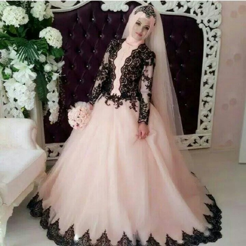 Online Buy Wholesale Pink Muslim Wedding Dress From China With Muslimah