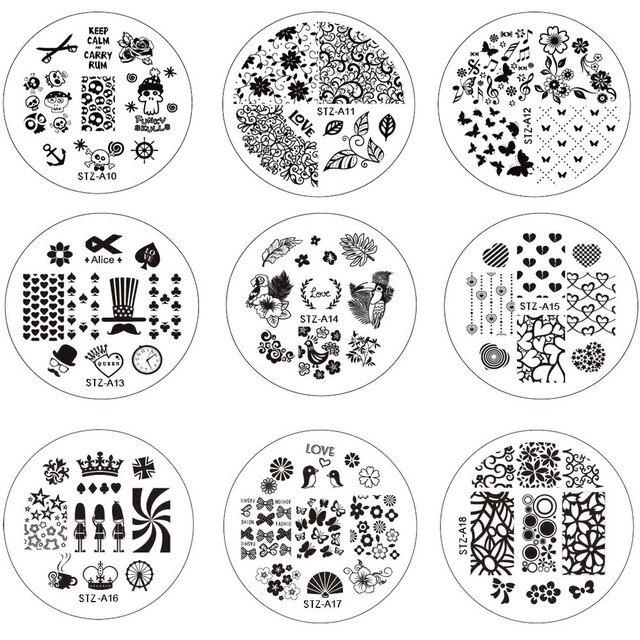 10pcs New Flower Nail Art Image Stamping Plates Nail Stamp DIY Tips ...