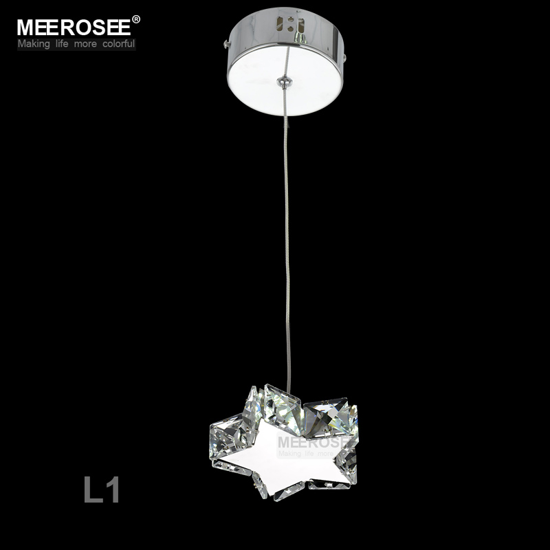 Small Crystal LED Pendant Lights Fixture Star Round Square Shape ...