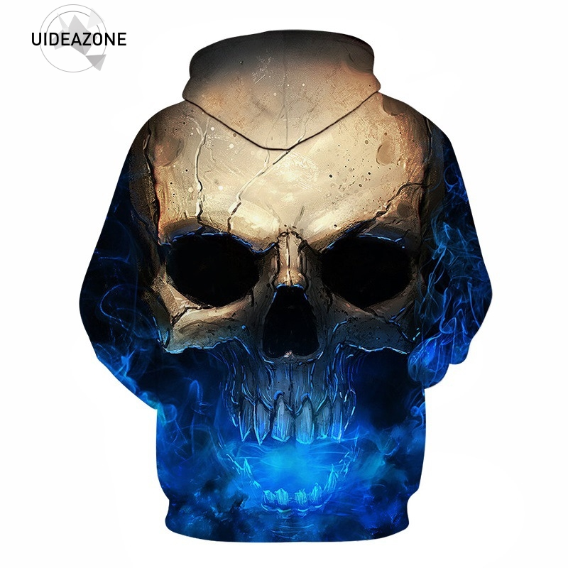 EU Size S-3XL Skull headr Hoodies Fashion Cool Popular with people hooded