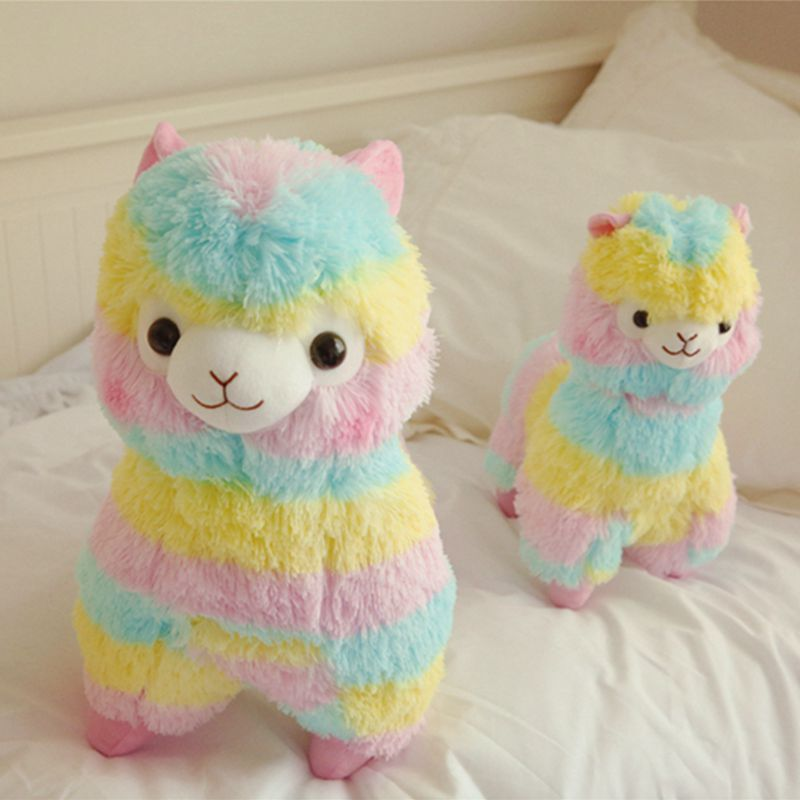 35/50CM Kawaii Cute Colorful Fluffy Alpaca Plush Toy Plush Animals Alpaca Doll For Children Girl Baby Birthday Christmas Gift kawaii alpaca vicugna pacos plush toy japanese soft plush alpacasso baby kids plush stuffed animals alpaca gifts