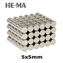 50Pcs 5x5 Neodymium Magnet Permanent N35 NdFeB Super Strong Powerful  Magnetic Magnets HE-MA Disc 5mm x