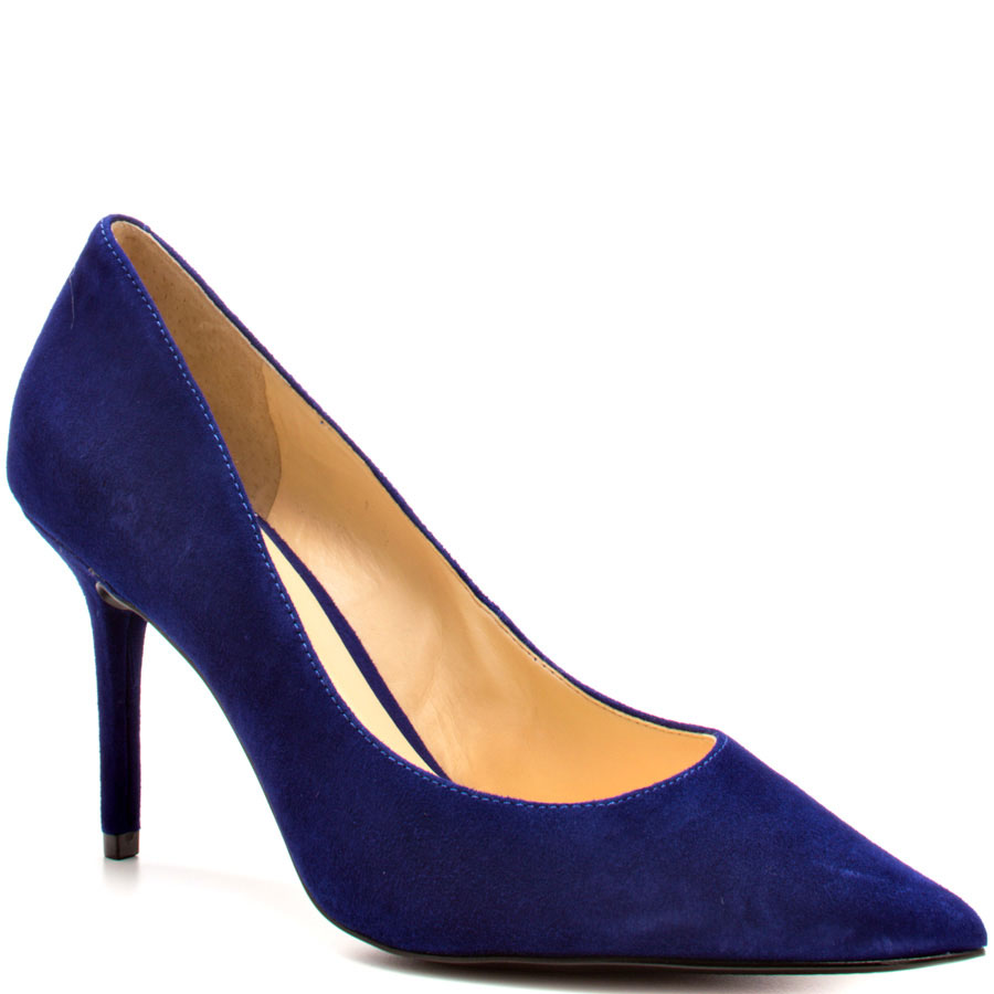 ФОТО Sexy Pointed Toe Women Pumps Med Heel 8cm Stiletto Nubuck Leather OL Shoes For Women Suede Rhinestones Nude Sole Pump Plus Size