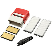 1 Pcs Custom Personalised Self Inking Rubber Stamp Kit Business Name Address DIY WXV Sale