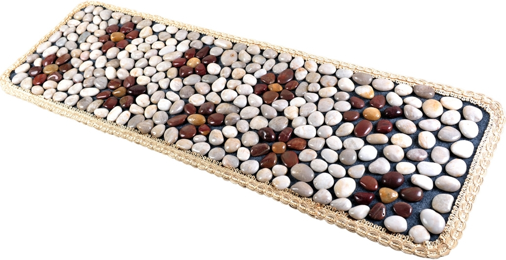 Natural stone cobblestone foot massage pad foot massage device stone pad blanket mat plate