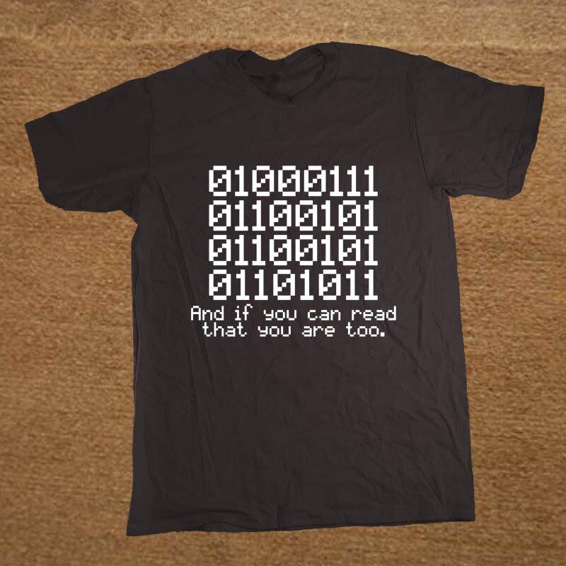 Été Nouveau 0100 Binaire Et Si Vous Pouvez Lire Que Programmeur codeur T Shirt Hommes Manches Courtes Dessin Animé de Coton Imprimé T-shirt Tops