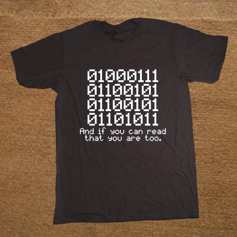 Estate Nuovo 0100 Binario E Se È Possibile Leggere Che Programmatore Coder T Shirt Uomo Manica Corta Stampato Maglietta Del Fumetto Del Cotone Tops