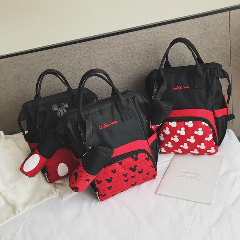 e3c77b25ee1d Disney Mickey Mouse Women Backpack Cute Cartoon Minnie Large Capacity Girl  Bag Fashion Travel Mummy Package