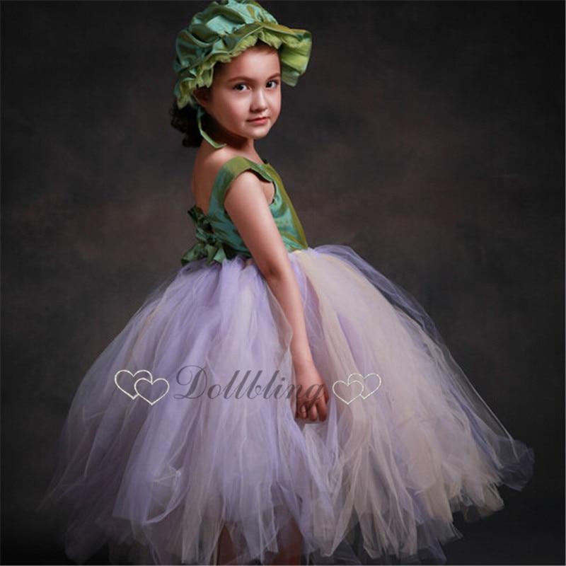 Ellie Bridal Pincess Fairy Girl Formal Gorgeous Satin sash ribbon Ballet tutu dress posh honor dress 1191