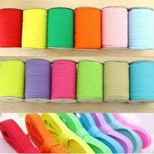 Цветные эластичные ленты для переплета ленты 6 мм DIY эластичная тесьма для шитья одежды аксессуары
