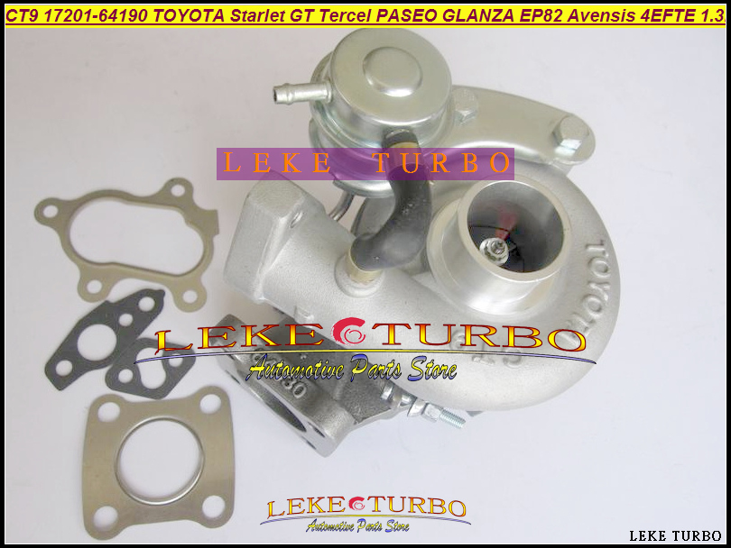 CT9 17201-64190 Turbocharger Turbo For TOYOTA PASEO TERCEL GLANZA Avensis Starlet GT EP82 EP85 EP91 1997- 4EFE 4EFTE 4E-FTE 1.3L epman intercooler for toyota starlet ep82 91 ic 600 263 70mm od 63mm ep int0015