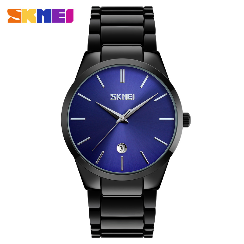 SKMEI New Business Quartz Watch Men Clock Waterproof Watches Top Luxury Man Brand Male Fashion Wristwatch Relogio Masculino 9140 skmei men quartz watch waterproof calendar sport watches alloy straps luxury wristwatches fashion clock relogio masculino 9140