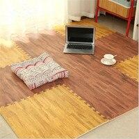 Fashion EVA Foam Pad Imitation Wood Wood Floor Home Indoor Mosaic Children Crawling Mat