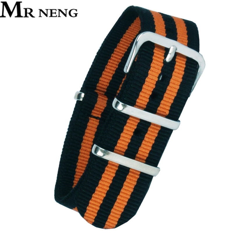 18 20 22 24 mm Multi Color Black Orange Army Sports nato fabric Nylon watchbands Watch Strap accessories Bands Buckle belt 22mm wholesale stripe cambo solid black watch 22 mm multi color army military nato fabric nylon watchbands strap bands buckle 22mm