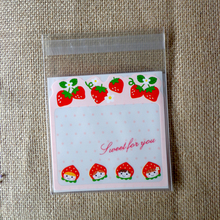 100pcs Strawberry Shortcake Girl OPP Cute small Baking Christmas Gift Packaging Bags Wedding Cookie Candy Plastic bag(China (Mainland))